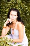 piękna mody dziewczyny biżuteria fotografia stock