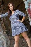 piękna mody modela kobieta obraz royalty free