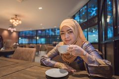 piękna muzułmańska kobieta obraz stock