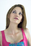 piękna myśląca kobieta zdjęcia stock