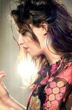 piękna myśląca kobieta Zdjęcia Royalty Free