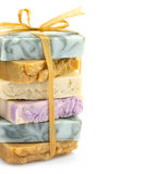 Piękna mydła handmade stos obrazy royalty free