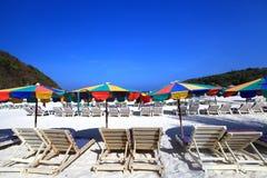 piękna na plaży Obrazy Royalty Free