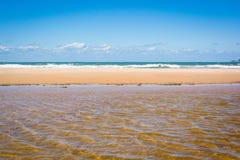 piękna na plaży zdjęcia stock