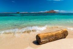 piękna na plaży Widok ładna tropikalna plaża Obraz Stock
