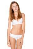Piękna nikła dziewczyna w bieliźnie Fotografia Stock