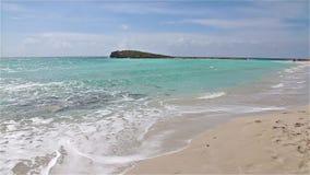 Piękna Nissi plaża blisko Ayia Napa na Cypr wyspie zbiory
