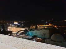 Piękna noc na dachu w Jerozolima zdjęcia stock