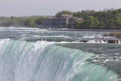 Piękna odosobniona fotografia zadziwiający Niagara spada od kanadyjczyk strony zdjęcia royalty free