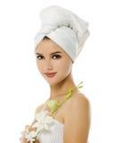 piękna odosobniony portreta biel Obrazy Royalty Free
