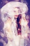 piękna odosobniony portreta biel Fotografia Stock