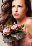 piękna odosobniony portreta biel Obraz Royalty Free