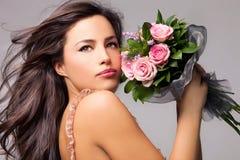piękna odosobniony portreta biel Zdjęcia Royalty Free
