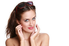 piękna okularów przeciwsłoneczne kobiety potomstwa fotografia royalty free