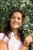 piękna płaczącej kobiety willow Zdjęcia Stock