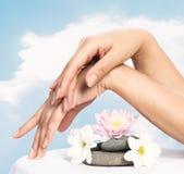 piękna palców gwoździ kobieta Obrazy Stock