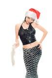 piękna pani Santa Claus zdjęcia royalty free