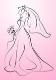 piękna panna młoda Zdjęcie Royalty Free