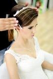 piękna panna młoda dzień ślubu Fotografia Royalty Free