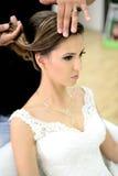 piękna panna młoda dzień ślubu Obraz Royalty Free