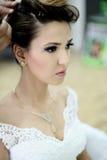 piękna panna młoda dzień ślubu Zdjęcie Stock