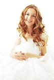 piękna panna młoda uśmiecha się Zdjęcia Royalty Free