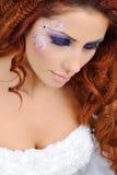 Piękna panna młoda w studiu Zdjęcie Stock