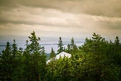 Piękna panorama jezioro i las od Kola parka narodowego osiąga szczyt Zdjęcie Royalty Free