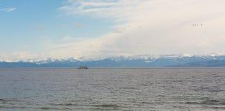 Piękna panorama przy Jeziornym Constance zdjęcia royalty free