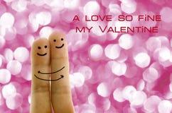 Piękna para w miłość palcach Zdjęcie Stock