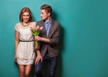 Piękna para w miłości Zdjęcia Stock