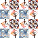 Piękna patchwork kołderka Zdjęcia Royalty Free