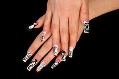piękna paznokcia palców istota ludzka tęsk m Zdjęcie Royalty Free