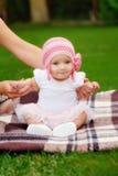 Piękna pięć miesięcy stara dziewczynka Obrazy Royalty Free