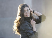 piękna piękny target1050_0_ kobieta Zdjęcia Stock