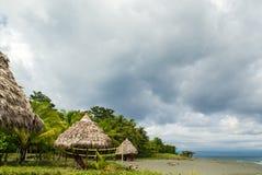 Piękna piaskowata plaża - Costa Rica Obrazy Royalty Free