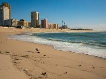 Piękna piaskowata plaża w Povoa De Varzim, Porto, Portugalia obraz stock