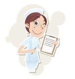 Piękna pielęgniarka z schowkiem Fotografia Royalty Free