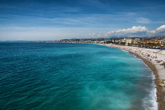 Piękna plaża Ładny, Francja Fotografia Stock