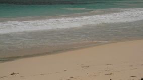 Piękna plaża karaibska Antigua Half Moon Bay zbiory