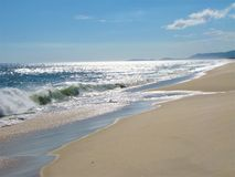 Piękna plaża miejsce znajdować pokój obrazy royalty free