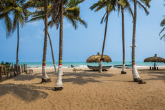 Piękna plaża Palomino w Karaibskim wybrzeżu Kolumbia, Ameryka Południowa fotografia stock