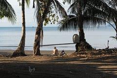 Piękna plaża przy Drake zatoką na Pacyficznym oceanie w Costa Rica Fotografia Royalty Free