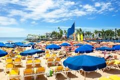 Piękna plaża Puerto De Mogan, Gran Canaria zdjęcie royalty free