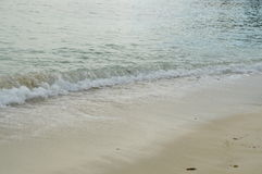 Piękna plaża Seychelles Zdjęcia Royalty Free