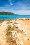 Piękna plaża w Cala Agulla Mallorca fotografia stock