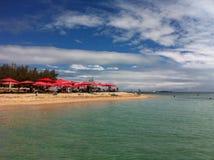 Piękna plaża w Fitchi Obrazy Royalty Free