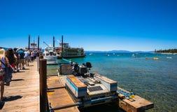 Piękna plaża w Jeziornym Tahoe, Kalifornia Zdjęcie Royalty Free