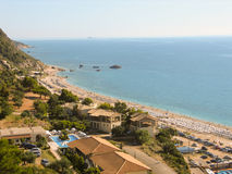 Piękna plaża w Lefkada Kathisma Obrazy Royalty Free