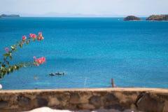 Piękna plaża w Nosatym był Madagascar fotografia royalty free
